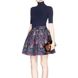 Alice + Olivia Deco box pleat pouf skirt